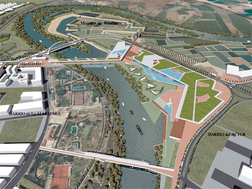 Vista aérea de la Expo-Zaragoza 2008