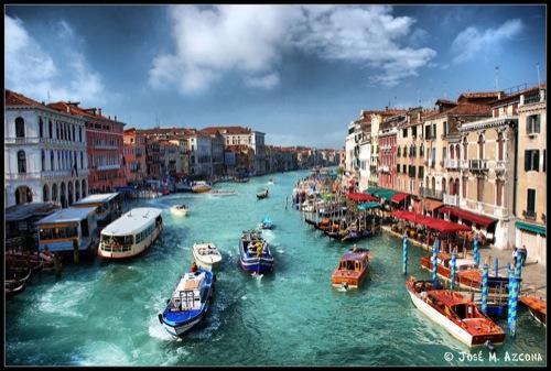 Fotografia aérea de Venecia